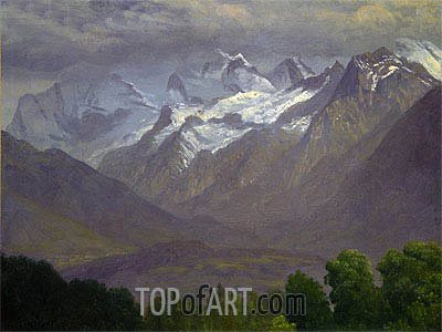 In the High Mountains, indated | Bierstadt| Painting Reproduction