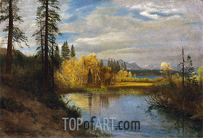 Bierstadt | Outlet at Lake Tahoe, indated