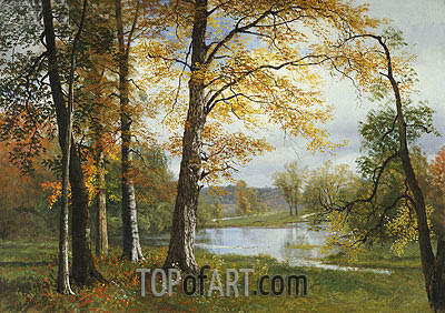 A Quiet Lake, undated | Bierstadt | Painting Reproduction