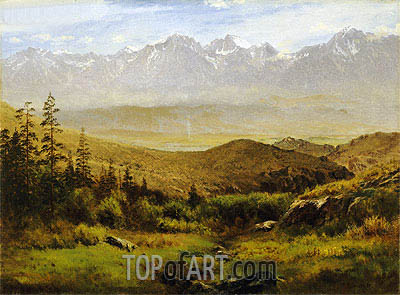 In the Foothills of the Rockies , undated | Bierstadt| Painting Reproduction