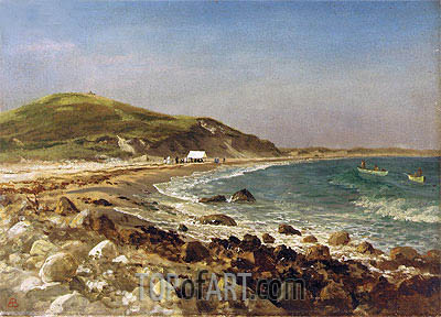 Coastal Scene, undated | Bierstadt| Painting Reproduction