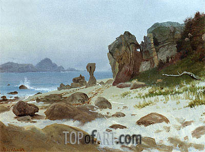 Bay of Monterey, undated | Bierstadt| Painting Reproduction