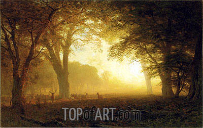 Golden Light of California, undated | Bierstadt| Painting Reproduction