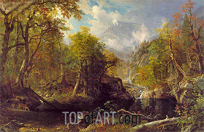 The Emerald Pool, 1870 | Bierstadt| Painting Reproduction