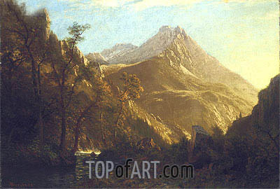 Wasatch Mountains, undated | Bierstadt| Painting Reproduction