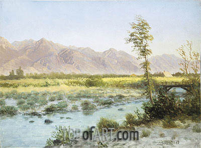 Western Landscape, undated | Bierstadt| Painting Reproduction