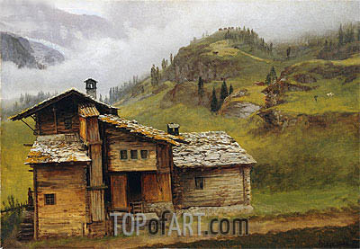 Mountain House, undated | Bierstadt | Painting Reproduction