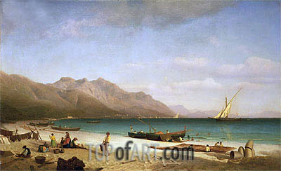 Bierstadt | Bay of Salerno, 1858