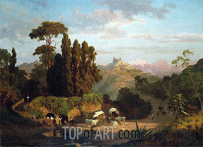 Italian Mountains, 1859 | Bierstadt | Painting Reproduction