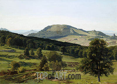 Landscape - Hill and Dale, undated | Bierstadt| Painting Reproduction