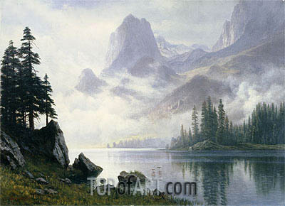 Mountain out of the Mist, undated | Bierstadt | Painting Reproduction