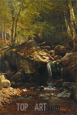 Thompson Cascade, White Mountains, undated | Bierstadt | Gemälde Reproduktion