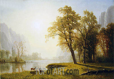 Yosemite Valley, undated | Bierstadt| Painting Reproduction