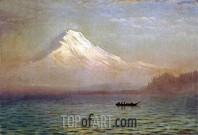 Sunrise on Mount Tacoma, undated | Bierstadt| Painting Reproduction