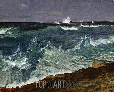 Seascape, undated | Bierstadt| Painting Reproduction