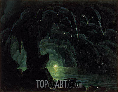 The Blue Grotto, Capri, undated | Bierstadt | Painting Reproduction