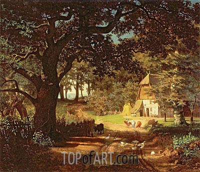 The House in the Woods, undated | Bierstadt | Gemälde Reproduktion