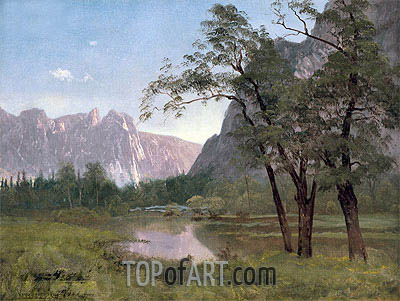 Yosemite Valley, undated | Bierstadt| Gemälde Reproduktion