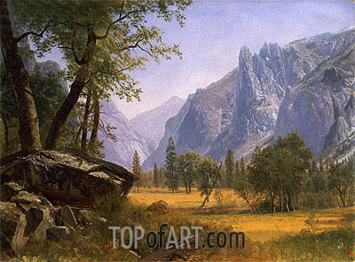 Yosemite Valley, undated | Bierstadt | Painting Reproduction