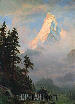 Sunrise on the Matterhorn, a.1875 | Bierstadt| Painting Reproduction