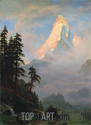 Bierstadt | Sunrise on the Matterhorn, a.1875