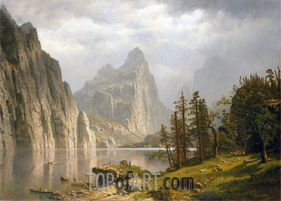 Merced River, Yosemite Valley, 1866 | Bierstadt | Painting Reproduction