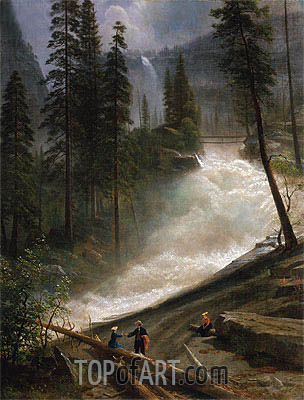Nevada Falls, Yosemite, c.1872/73 | Bierstadt| Painting Reproduction