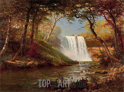 Minnehaha Falls, undated | Bierstadt | Painting Reproduction