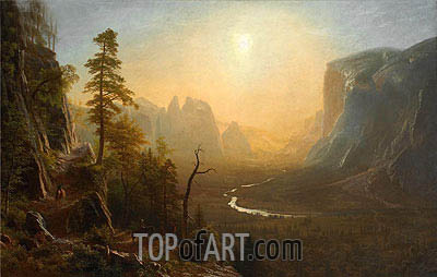 Yosemite Valley, Glacier Point Trail, c.1873 | Bierstadt | Gemälde Reproduktion