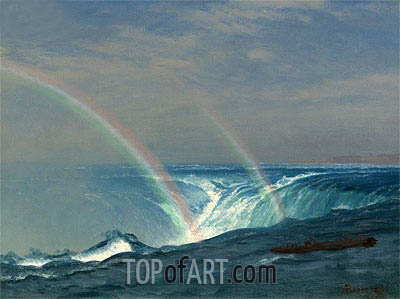 Home of the Rainbow, Horseshoe Falls, Niagara, undated | Bierstadt | Gemälde Reproduktion