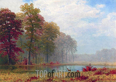 Autumn on the River, undated | Bierstadt| Painting Reproduction