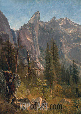 Lost Arrow, Yosemite Valley, undated | Bierstadt | Painting Reproduction