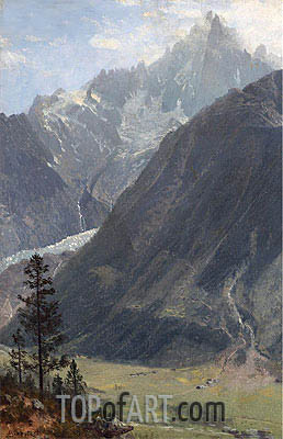 Mountain Landscape, undated | Bierstadt | Painting Reproduction