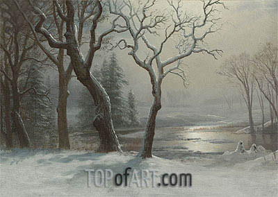 Winter in Yosemite, undated | Bierstadt | Painting Reproduction