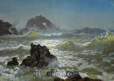 Seal Rock, California, c.1872 | Bierstadt | Painting Reproduction
