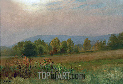 Autumn Landscape, New England, undated | Bierstadt | Painting Reproduction