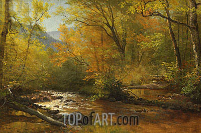 Brook in Woods, undated | Bierstadt | Painting Reproduction
