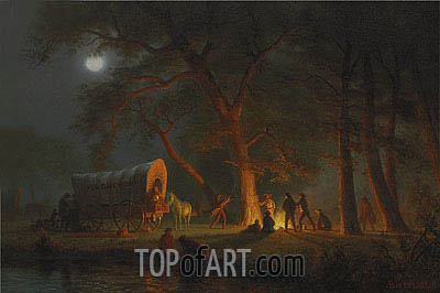 Oregon Trail, undated | Bierstadt | Painting Reproduction