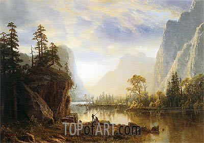 Yosemite Valley, 1863 | Bierstadt | Painting Reproduction