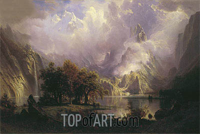 Rocky Mountain Landscape, 1870 | Bierstadt | Painting Reproduction