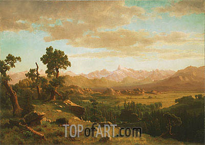 Wind River Country, 1860 | Bierstadt| Painting Reproduction