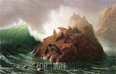 Seal Rock, c.1873/75 | Bierstadt | Painting Reproduction