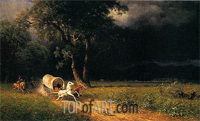 The Ambush, 1876 | Bierstadt | Painting Reproduction