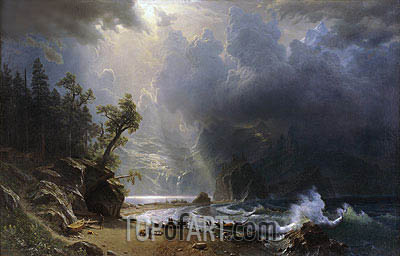 Puget Sound on the Pacific Coast, 1870 | Bierstadt| Painting Reproduction