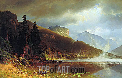 Echo Lake, Franconia Mountains, New Hampshire, 1861 | Bierstadt | Painting Reproduction