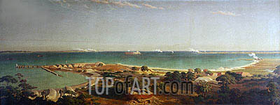 Bombardment of Fort Sumter, 1861 | Bierstadt | Painting Reproduction