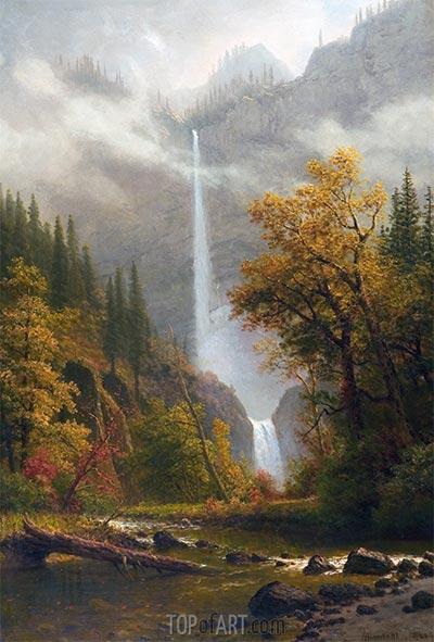 Multnomah Wasserfälle, undated | Bierstadt | Gemälde Reproduktion