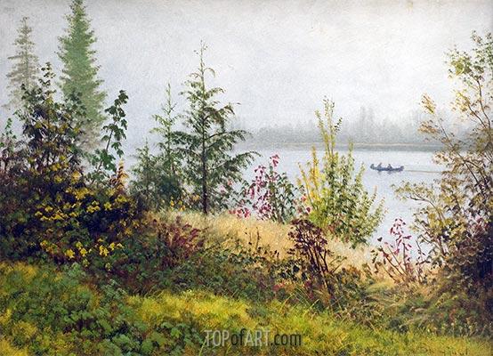 Kanu auf dem nördlichen Fluss, 1889 | Bierstadt | Gemälde Reproduktion