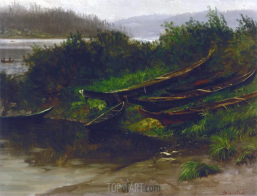 Alaska (Boote des Nordens), 1864 | Bierstadt | Gemälde Reproduktion