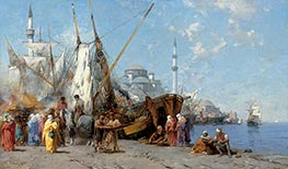 Market in Constantinople, 1868 by Alberto Pasini | Painting Reproduction